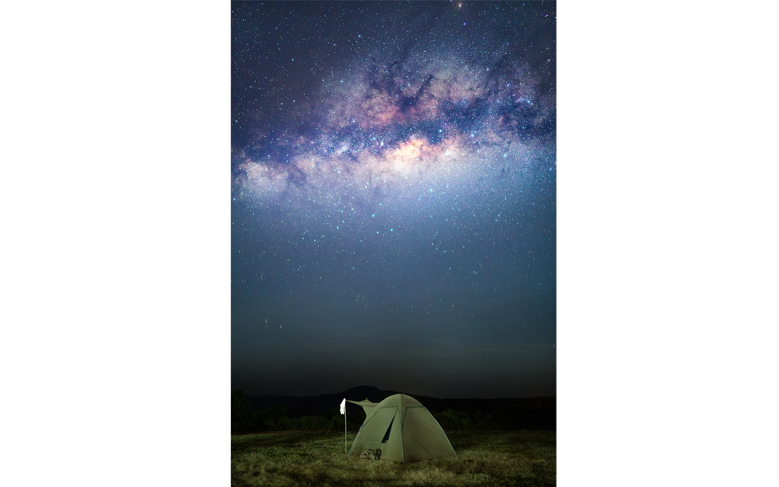 Camping below the beautiful Milky Way in the Ngorogoro Crater, Tanzania ©Mikkel Beiter