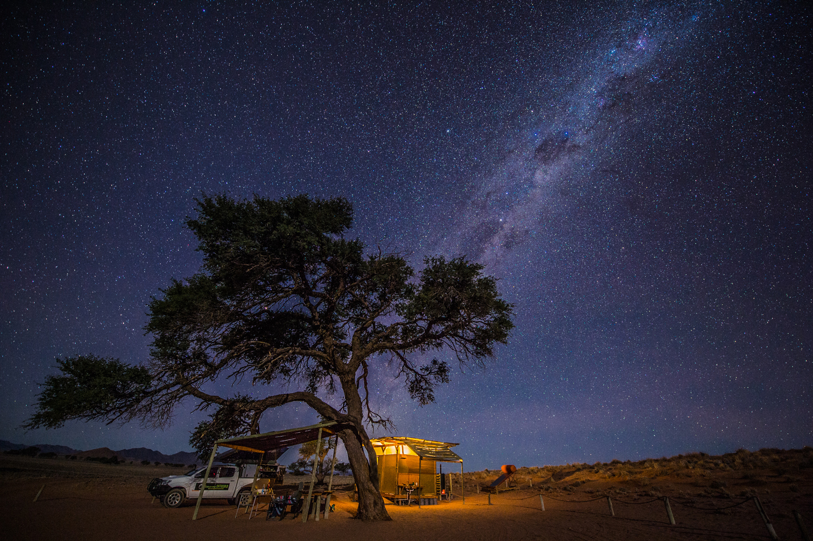 Namib Milky Way camping in Orion Campsite, NamibRand, Namibia ©Denis Roschlau