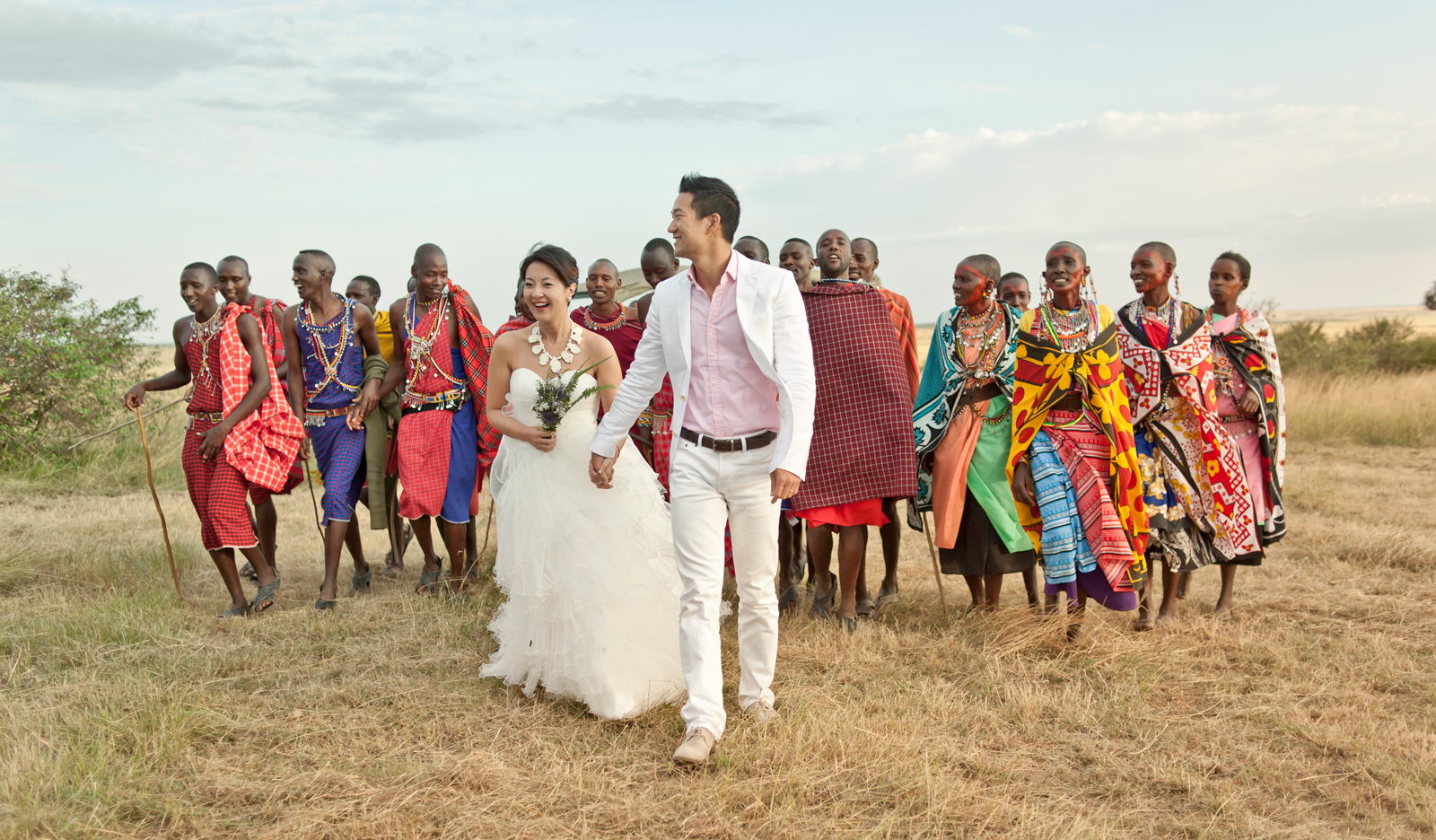 "A couple from Hong Kong tie the knot in the Maasai Mara ©<a href=""http://millzero.com"" target=""_blank"">Ali Nishan</a>"