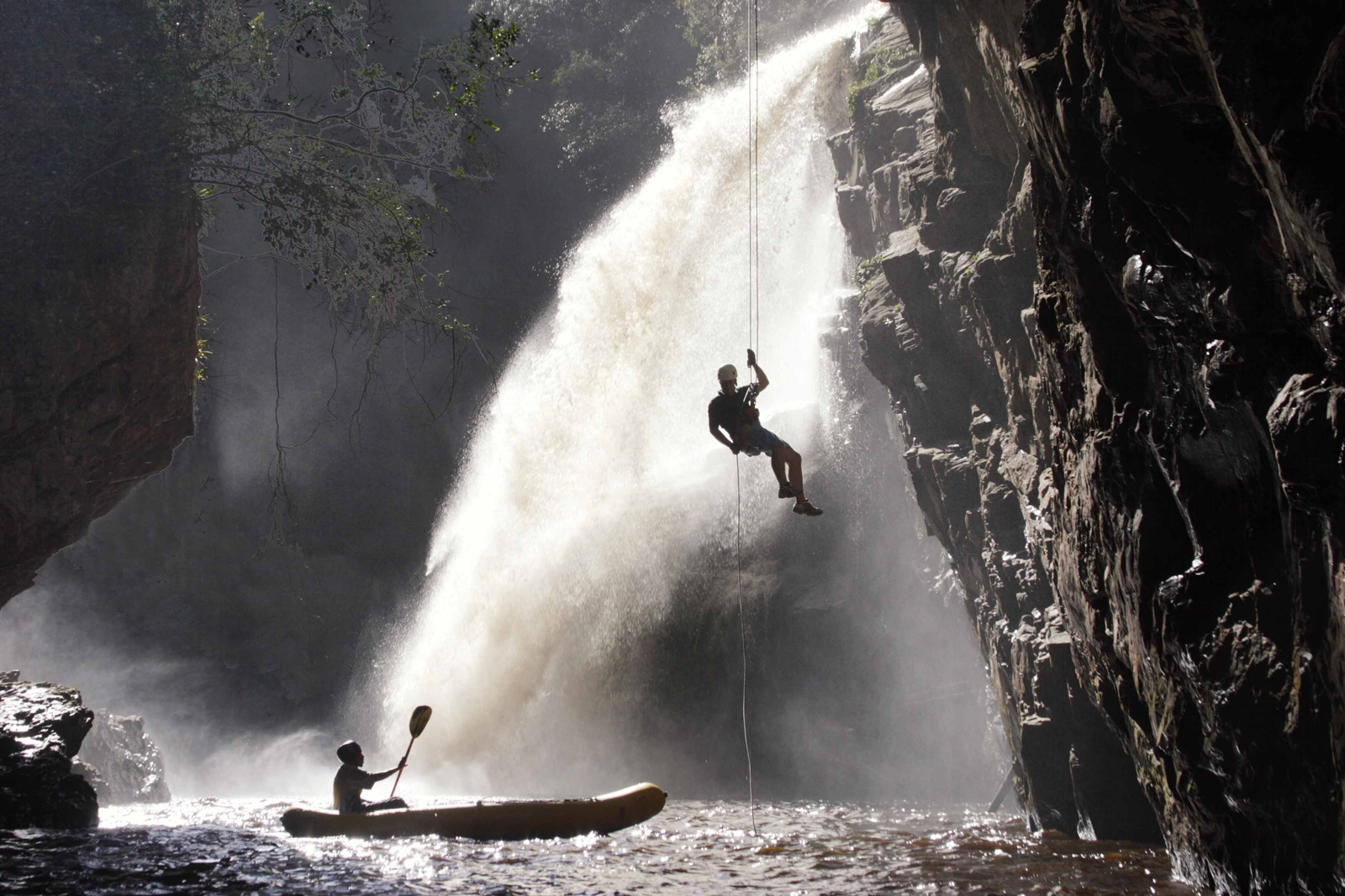 "Abseiling in a secret spot on the Kaaimans River, South Africa ©<a href=""http://www.eden.co.za/"" target=""_blank"">Eden Adventures</a>"