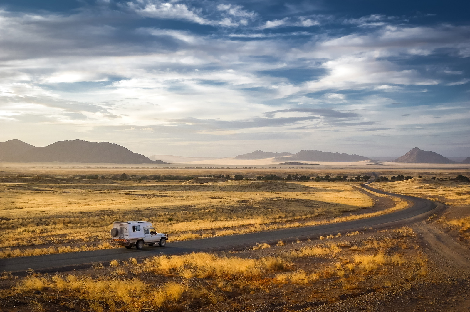 """Road to Sossusvlei"" in Namibia ©Gary Proctor"