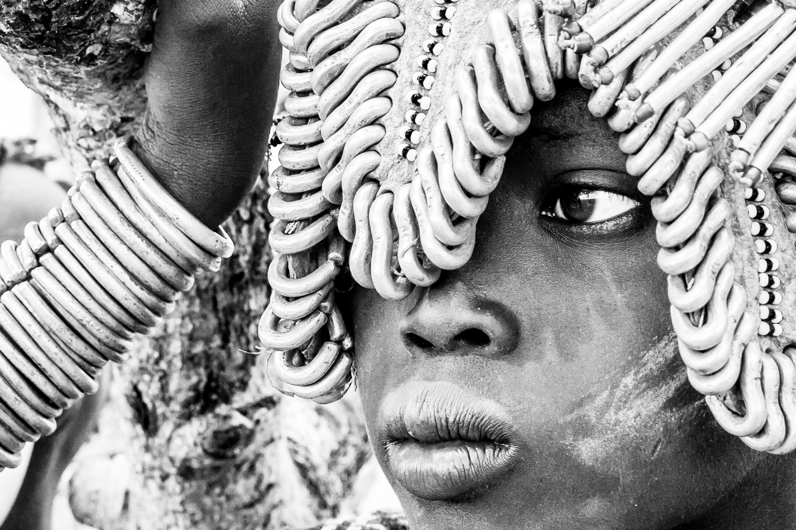 """Determination"" in Omo Valley, Ethiopia ©Christophe Lapeze"