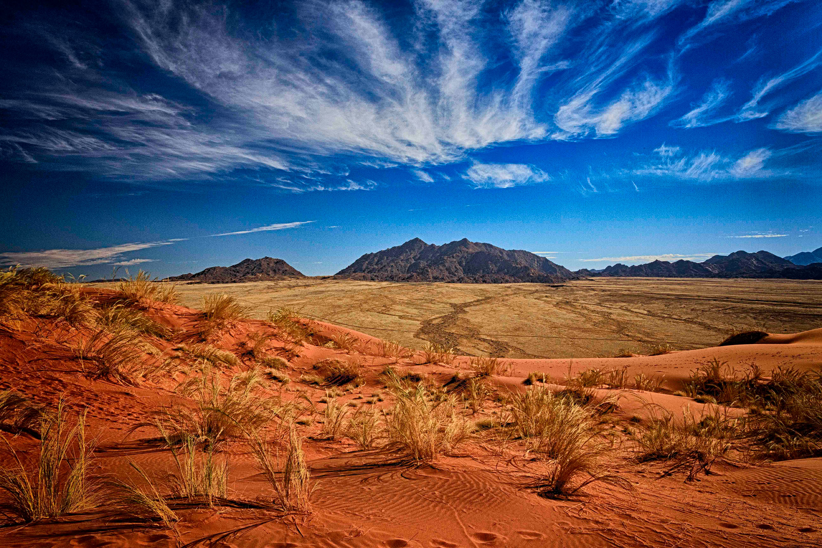 """Desert and mountains"" in Namib-Naukluft National Park, Namibia ©Charlie Lynam"