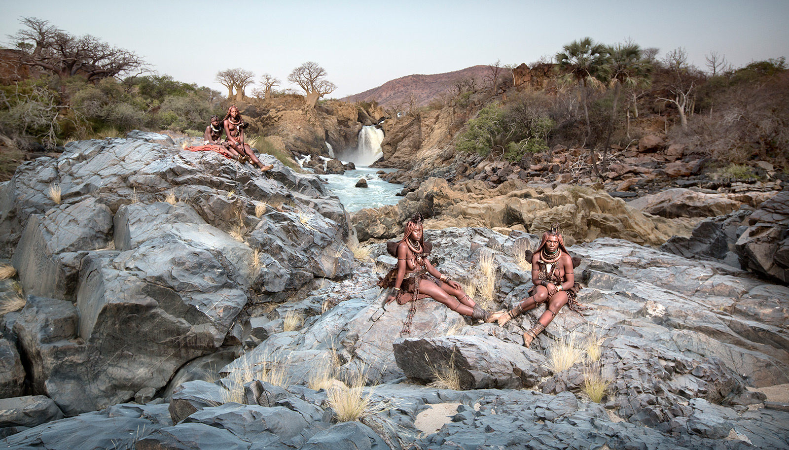 Himba women at Epupa Falls, northern Namibia ©Ben McRae