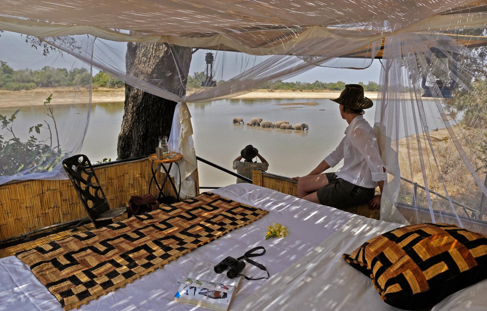 Kaingo-and-Mwamba-bush-camps-Zambia-Ele-crossing-2