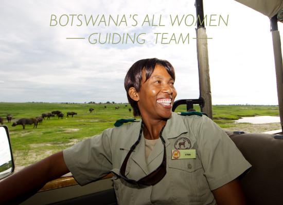 women guides botswana