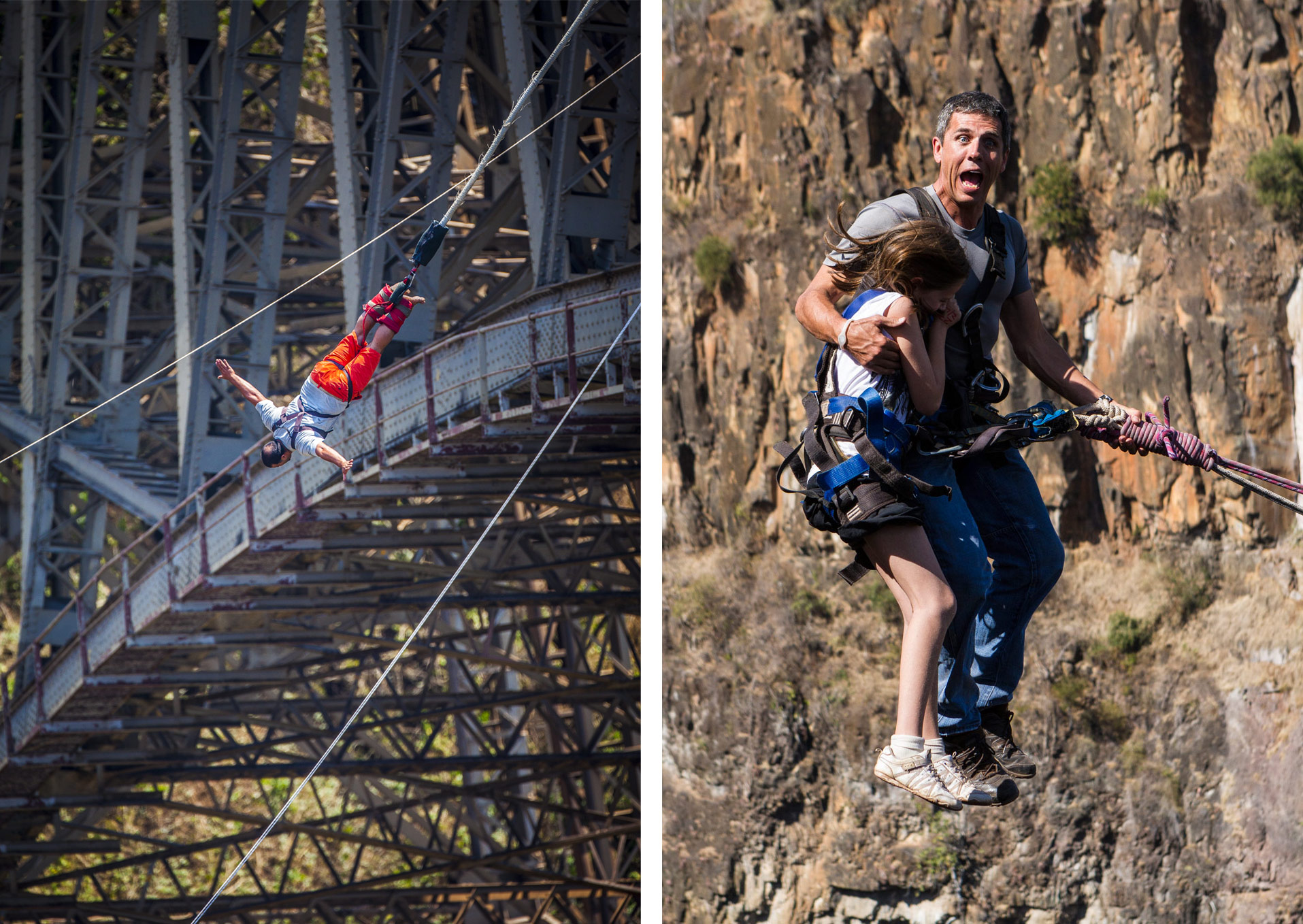 bungee jumping gorge swing vic falls
