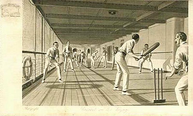 cricket-on-board-ship