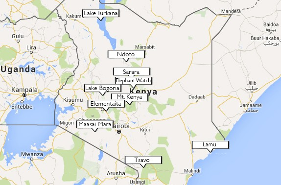 Kenyan Highlights Map