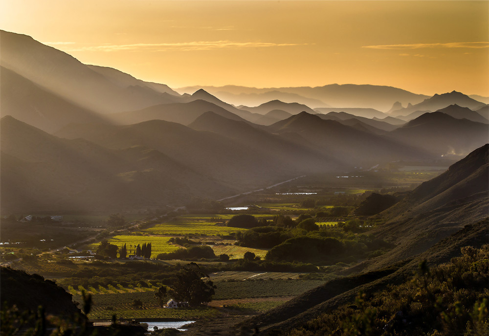 Magnificent rays of light shine down on Prince Albert, South Africa ©John Vosloo