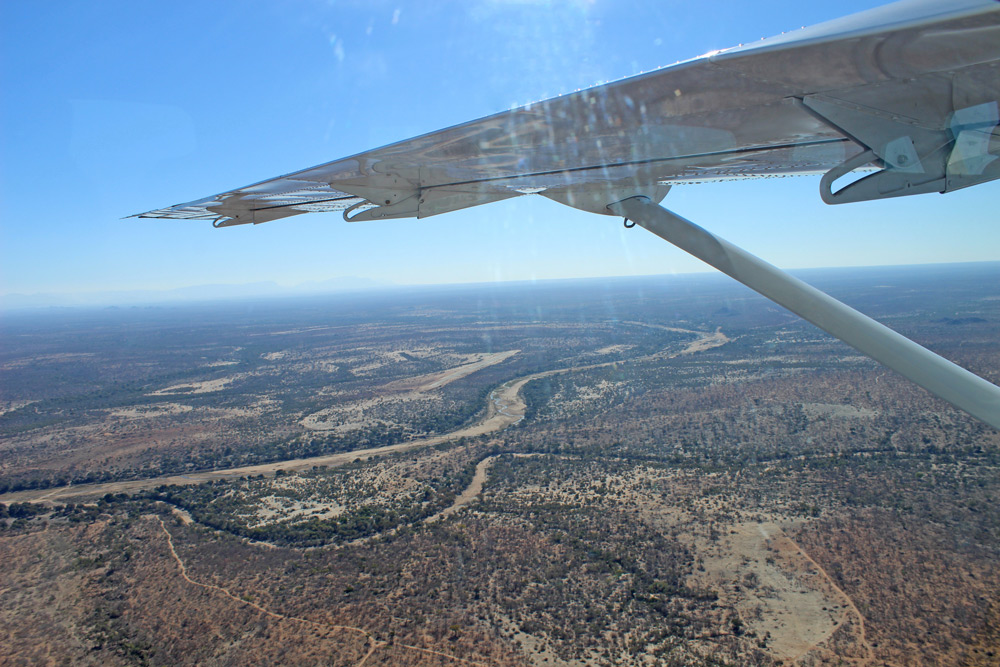 Start your safari in the sky on an Airlink flight to the Kruger National Park ©Janine Avery
