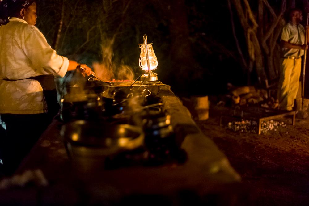 Bush dinner at night