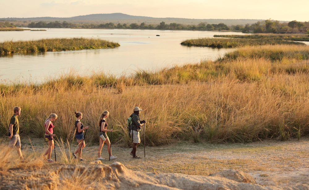 Walking safari in Selous © Azura Retreats