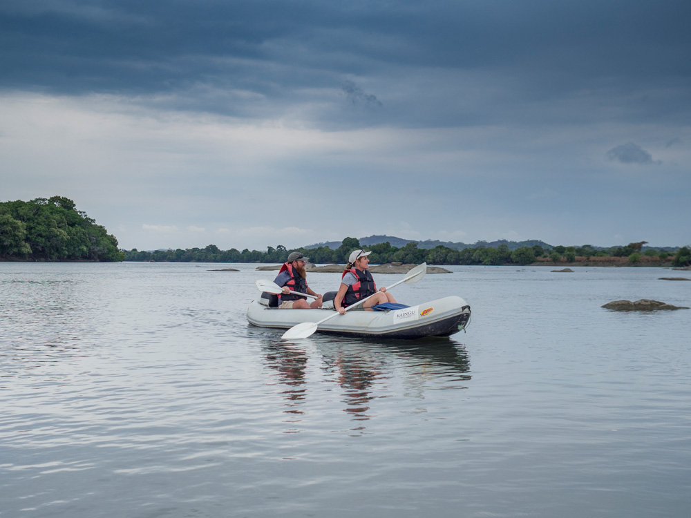 Canoeing on Kafue River in Zambia