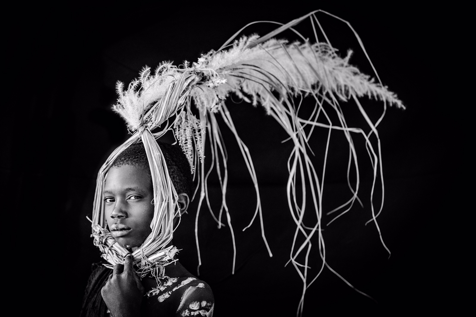 Head dress in Omo Valley, Ethiopia ©Robin Young