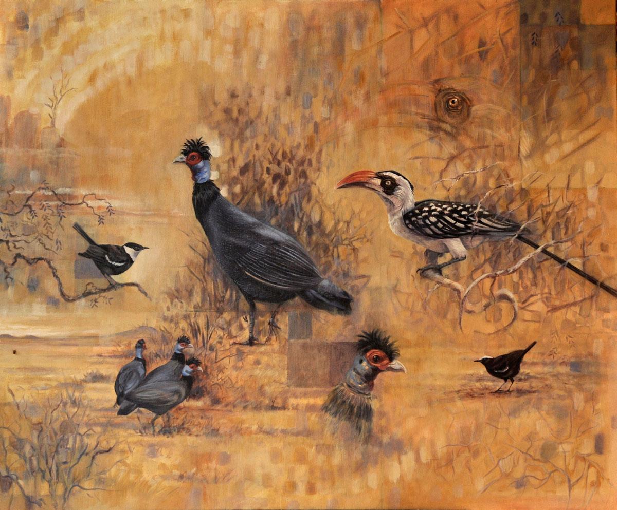 Ruaha-birds-Oil-painting-2013