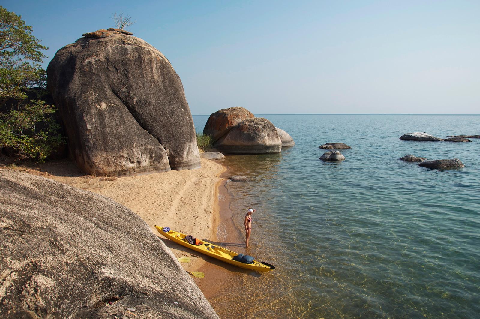 African-adventure-jeff-tyser-kerryn-lee-maggs-Lake_Malawi_Kayaking