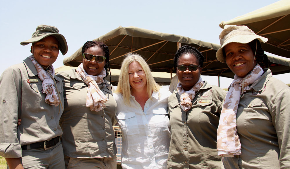 chobe botswana woman guides