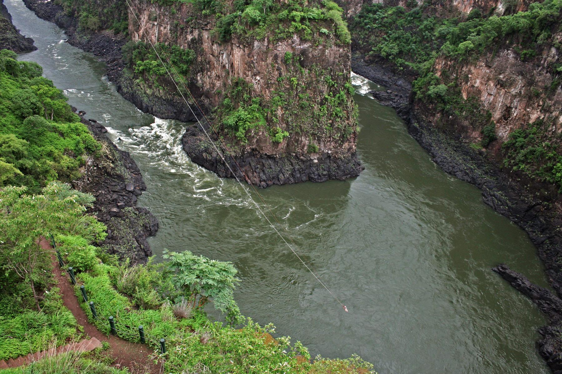 gorge swing zambezi victoria falls