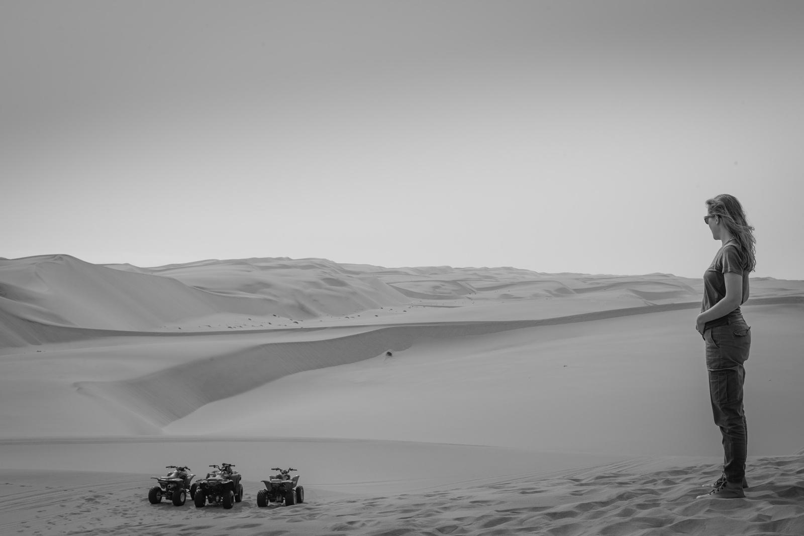 Quadbiking near Namibia's adventure capital, Swakopmund