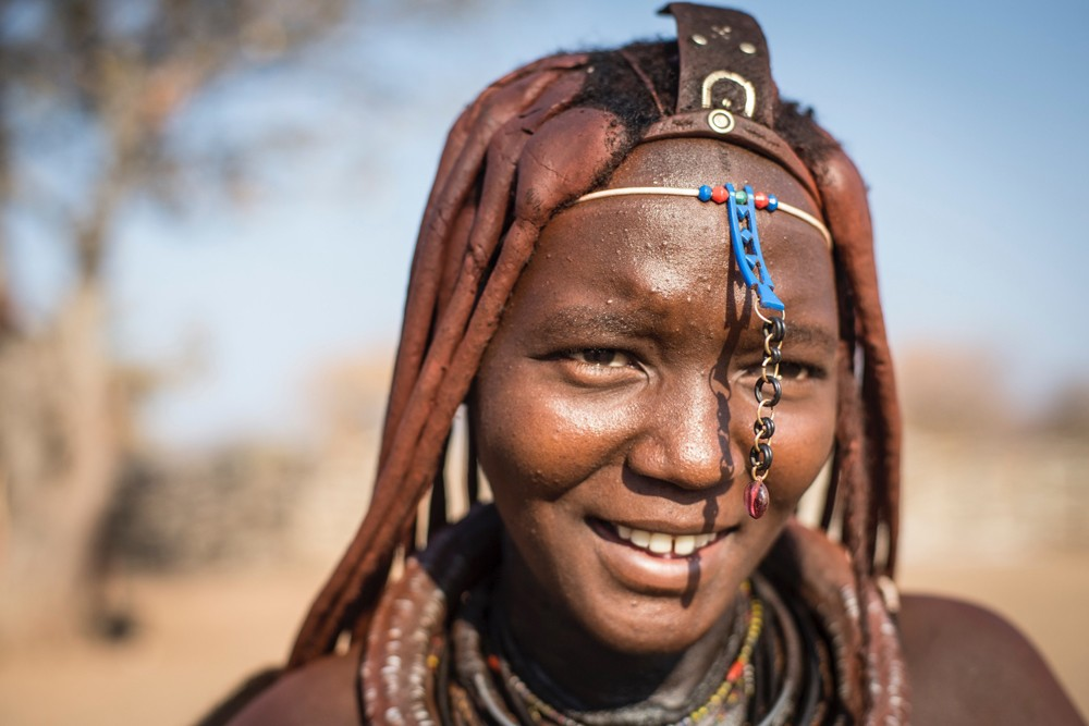 A young Himba woman in northern Namibia