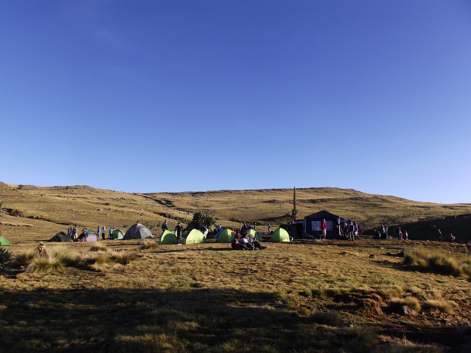 Gich campsite - where Sarah and her husband stayed on the second night of their Simien trek