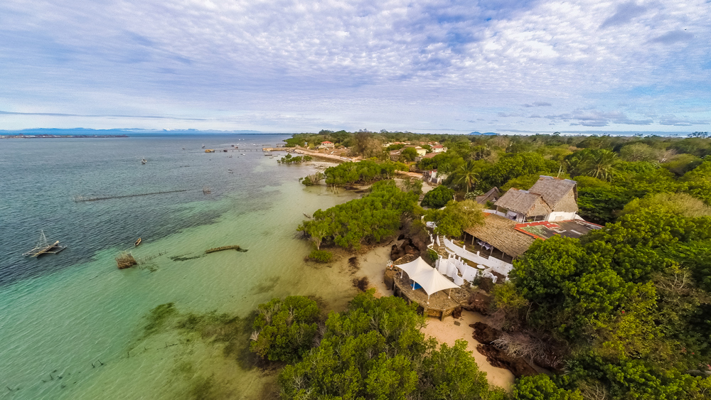 An aerial view of the lovely Shimoni Reef Lodge ©Shimoni Reef Lodge