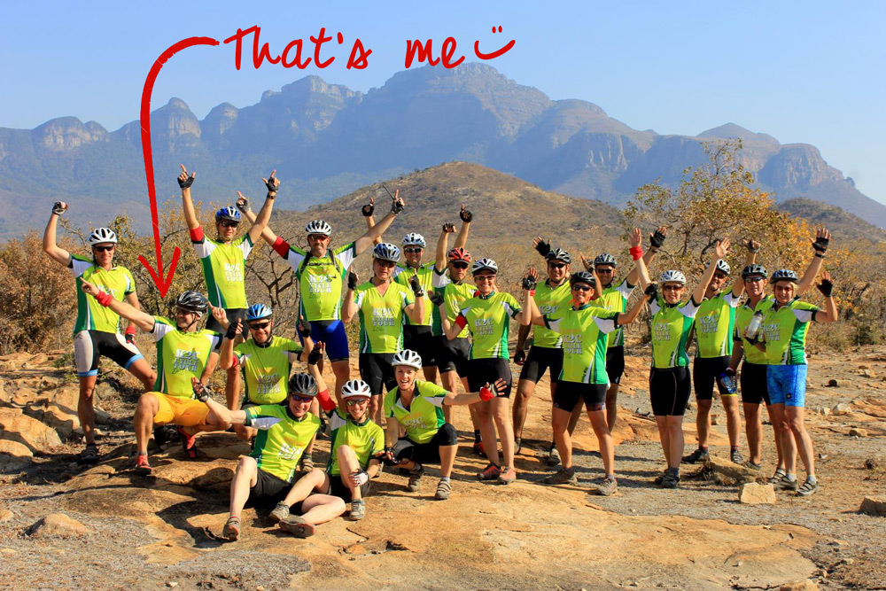 A group effort on the K2C cycle tour ©Simon Espley