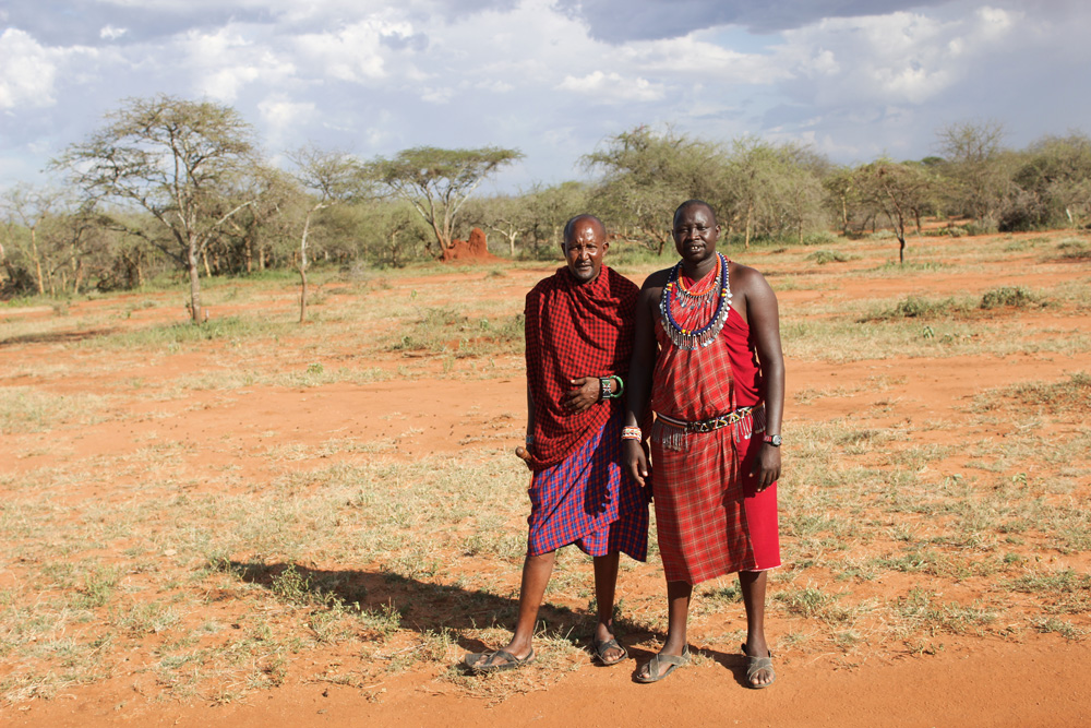 Two Maasai wilderness guides