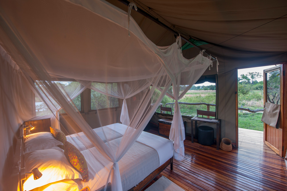 Tented accommodation © Sango Safari Camp