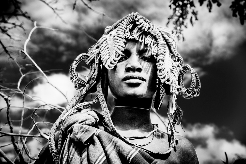 Ethiopian woman in traditional dress