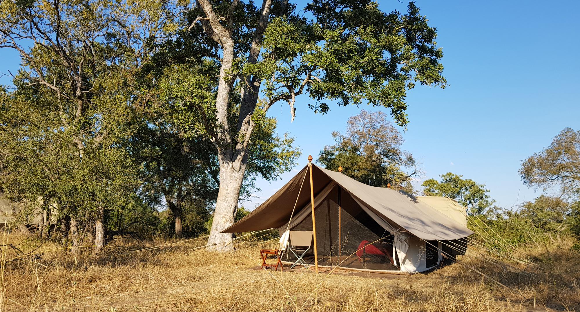 The tent accommodation at Tanda Tula Field Camp
