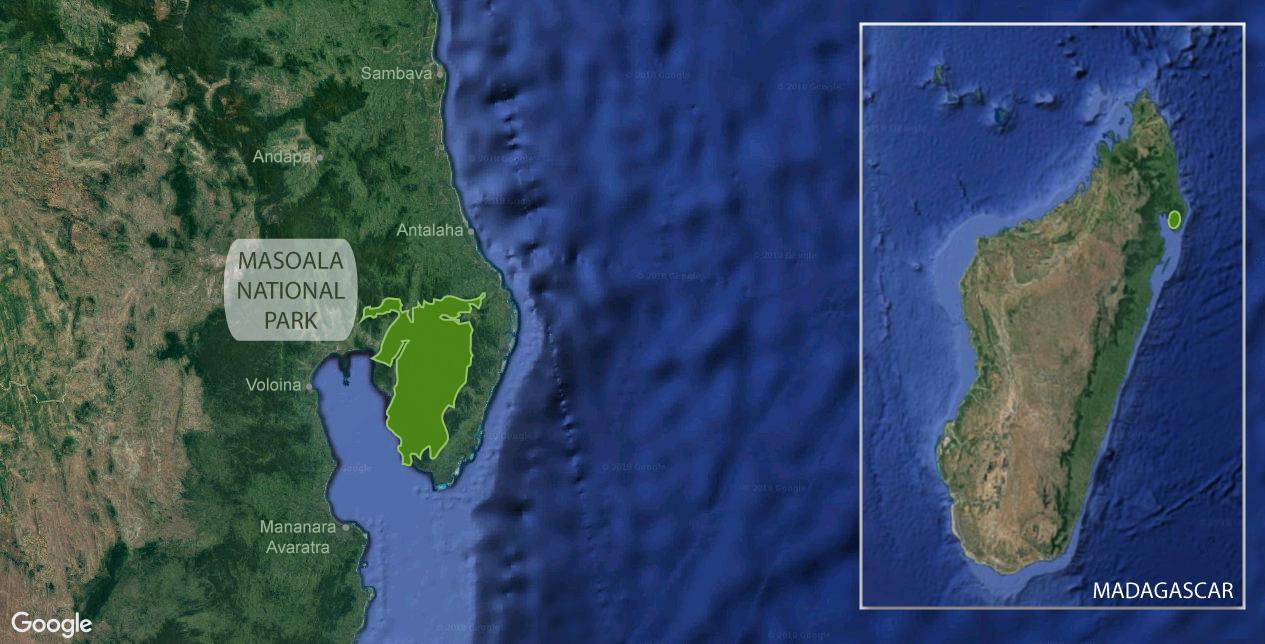 Google map of Masoala National Park, Madagascar