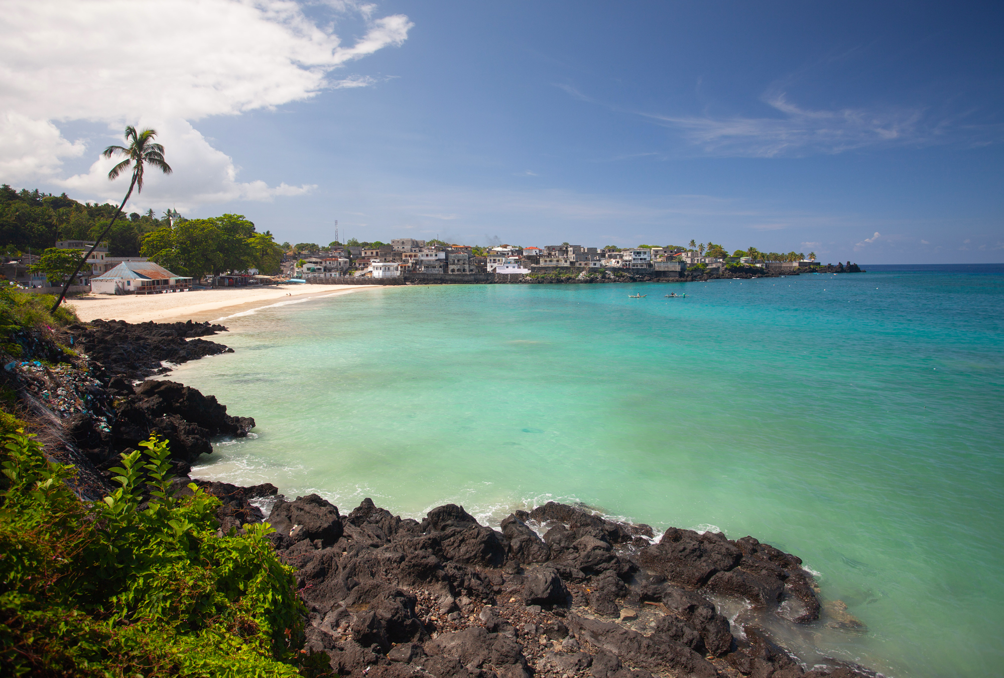 A beach in the capital city of Moroni on Grande Comore