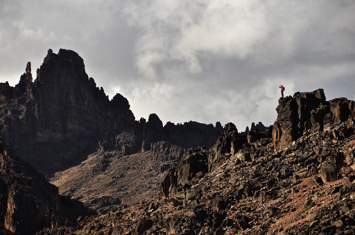 Summit gazing from the jagged ridgelines of Mount Kenya, Kenya © Robyn Johnston