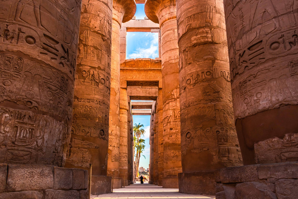"""Karnak Temple Complex – The massive stone pillars of the temple are a testament to the building prowess of the ancient Egyptians. One can only imagine in wonder what a sight it must have been to witness this spectacle all those centuries ago."" – Luxor, Egypt © Kunal Gupta"