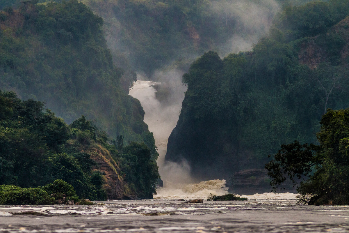 The mighty Murchison Falls in Murchison Falls National Park, Uganda © Patrice Quillard