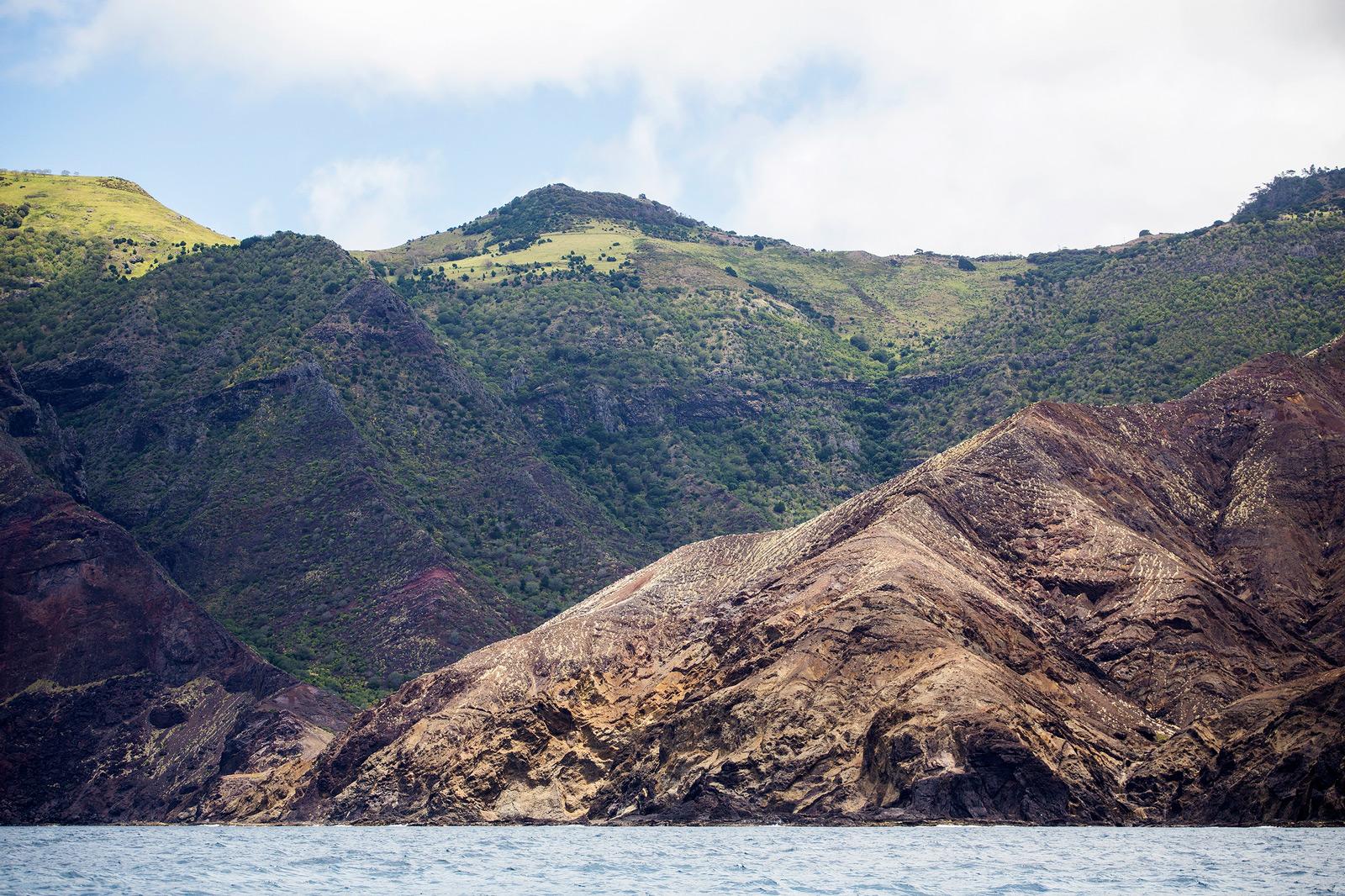 Coastline of St. Helena island