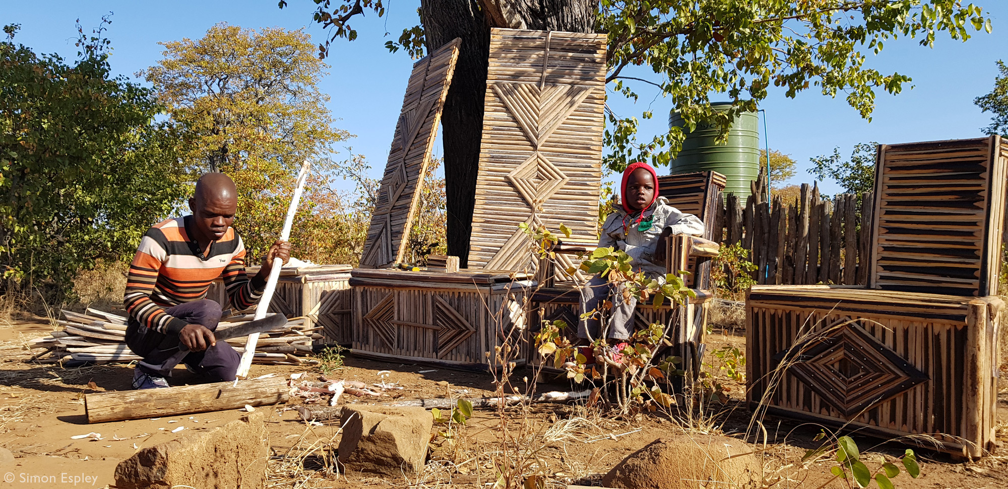 Thomas Chauke making doors and cabinets for the camps in Gonarezhou